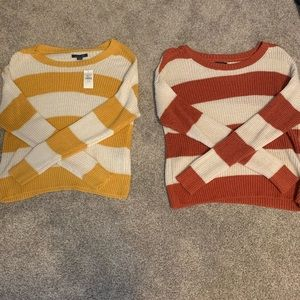 Striped American Eagle Sweater